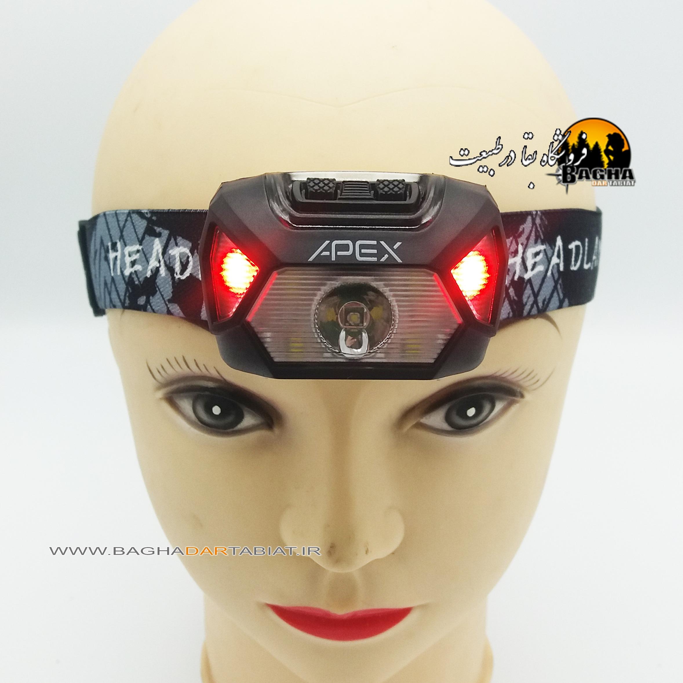 چراغ پیشانی شارژی APEX