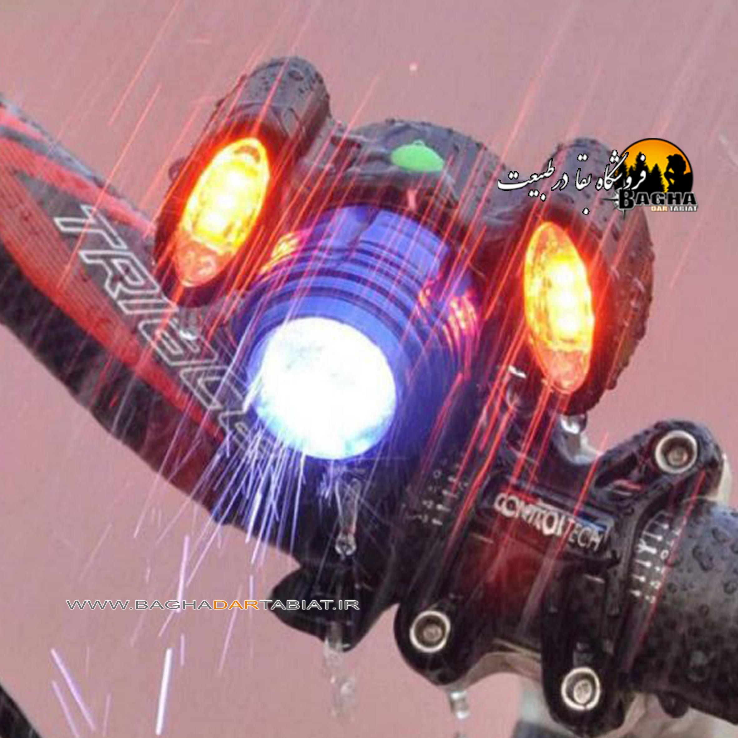 چراغ پیشانی و دوچرخه ای شارژی BIKE LIGHTS