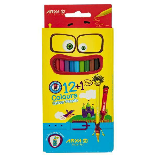 مداد رنگی 1+12 رنگ آریا